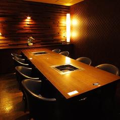 高級感のある完全個室8名席。