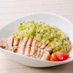 鶏の葱ソース
