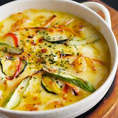豆腐と海老の野菜グラタン