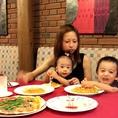 お子様も笑顔になるお料理がいっぱい♪家族連れでのご利用も歓迎です。