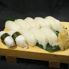 料理メニュー写真ヒラメの握り寿司
