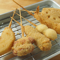屋台風の串カツは人気の一品料理!