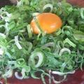料理メニュー写真【創作お好み焼】スジみそキムチの月見焼き