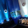 人気No.1の水槽付きアクアルーム☆女子会・合コンに大人気のお部屋です♪カラオケ・DVDプレーヤー・スマホ充電器完備!