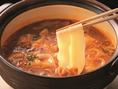 ~赤から流食べ方極意5、6~いざ赤から鍋へ。極めた辛さがここにある。鍋の〆はラーメン・きしめん・雑炊・リゾットのいずれかで!