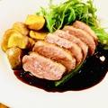 料理メニュー写真鴨のロースト 赤ワインソース