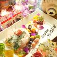 誕生日や記念日に!花火&メッセージ付デザートプレートでお祝い♪