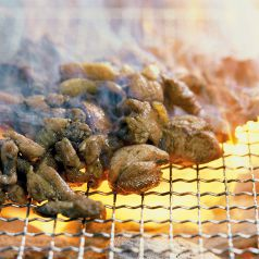 料理メニュー写真若鶏のもも炭火焼き