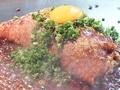 料理メニュー写真元祖三津浜焼ネギ月見乗せ
