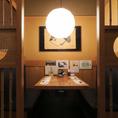 1F:テーブル席も半個室に仕切られ雰囲気○