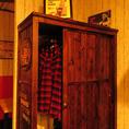 お洋服に匂いが付かないよう衣類棚を設けております。