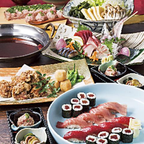 寿司屋でわいわい、旬の食材をふんだんに使った 季節の御宴会☆ご予約承り中です☆
