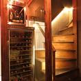 種類豊富なワインは、ワインセラーでしっかり管理しています。