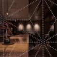 【インテリア】コンクリート打ちっ放しや照明など洋のエッセンスが加わったモダンな創作料理店です。