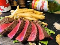 北海道十勝産のブランド牛を使用したステーキやお肉料理