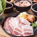 料理メニュー写真選べるスンドゥブチゲ+塩麹サムギョプサル定食