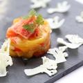 料理メニュー写真タラバ蟹とカリフラワーの冷菜