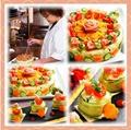 料理メニュー写真料理好きの主婦が作った京風おばんざい手作りポテトサラダのケーキ仕立て ~生ハムを載せて~