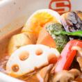 【エスの種類豊富なスープ紹介♪】《トマトバジルスープ(+50円(税込))》旨味と酸味のバランスがとれた、どんな具材にも合うさわやかなスープ。野菜とトマトを煮込み、焦がしバジルを加えたとろ旨スープです☆