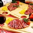 自慢のステーキとワインで乾杯!コースも全てステーキ付き♪