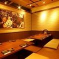 【個室充実】落ち着いた雰囲気の店内でお食事をお楽しみください。個室席はプライベートなご宴会にもぴったりです。デート・合コンにも是非♪