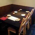 4~6名様のご宴会、お食事もOK。人数に応じたレイアウトでご用意できます。