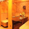 仕切りのある半個室のお席。少人数の飲み会に♪