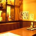 暖簾があるので、お隣の席も気になりません★海鮮居酒屋 はなの舞 浦和東口店