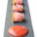 料理メニュー写真鴨のたたきのカルパッチョ
