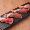 料理メニュー写真【赤身肉の握り】