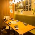 【B1】ゆったり座れるテーブル席は、宴会にも◎