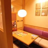 4名様用の個室席◎友人とのお食事などに♪※店舗ごとに座敷の有無、個室の数、レイアウトが違います。ご利用人数によってご案内の席、部屋が変わることがございますので詳しくは事前に店舗まで問い合わせてください。