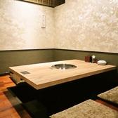 落ち着いた和の雰囲気漂う掘りごたつ個室