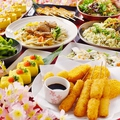 料理メニュー写真【種類豊富】【料金定額の飲み放題付コース】