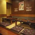 人気の【個室お座敷席】では6~8名様で御利用可能。完全個室でわいわい盛り上がれます♪