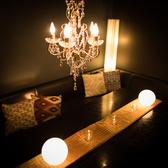 落ち着いた雰囲気の個室席。是非飲み放題付プランでお楽しみ下さい♪
