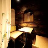 グランピングをイメージした2名様用のカーテン個室です。デートにぴったりのお席は予約必須♪
