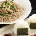 料理メニュー写真山菜そばセット