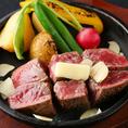 お肉の旨味をしっかりと楽しんで頂ける鉄板焼きメニューも多数☆