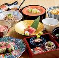 料理メニュー写真【接待や食事会にワンランク上のコースを】肉のお寿司と炭火焼のおまかせコース[料理のみ]