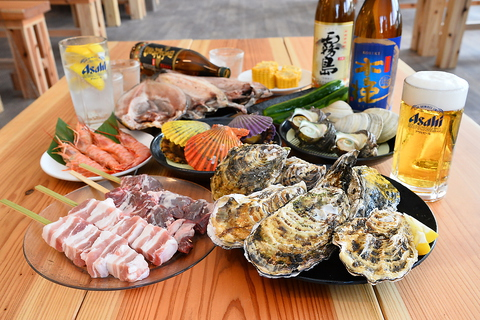 牡蠣と海鮮と肉 とことん食べ放題60分 ※超衝撃価格!!