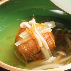 料理メニュー写真蛸と五目野菜のじゃがいも饅頭(一ケ)