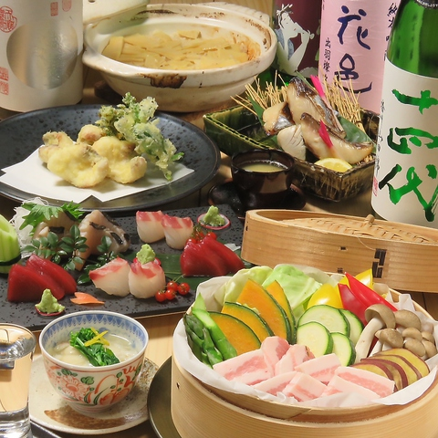 初秋限定◆2Hプレミアム飲み放題付き◆贅沢食材を堪能!クーポン利用で6000円(税込)!