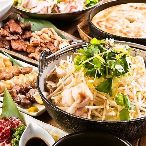 昭和の雰囲気漂うアットホームな空間で和牛もつ鍋や新鮮馬刺など九州名物が味わえる!