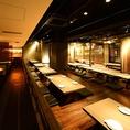 最大宴会席90名様可能です!岐阜駅近く最大級の大型空間はデザイナーによるプロデュース◆ご宴会に必須のマイクやプロジェクターの無料貸出しも承っております。※ご予約のお客様優先となりますので、お早目にお問い合わせお願い致します。