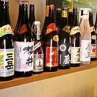 豊富な焼酎・日本酒で一杯