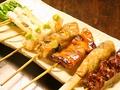 料理メニュー写真串盛り(7本)