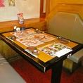 BOXタイプのテーブル席