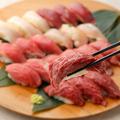 料理メニュー写真【オススメ】炙りにく寿司7種盛り合わせ