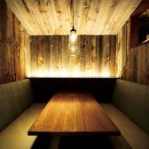 コテージをイメージした4名様個室♪木で囲われた完全個室は、女子会・誕生日会・合コンなどプライベートなシーンにオススメです★